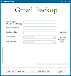 google mail backup